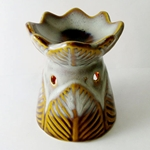 Ceramic Oil Burner (Rustic Leaves)