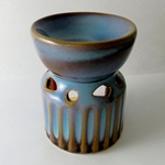 Ceramic Oil Burner (Rustic Chalice)